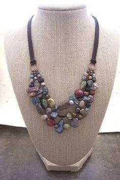 Αποτέλεσμα εικόνας για how to make a pearl and leather lariat necklace