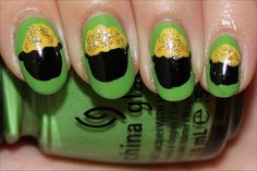 Pot-of-Gold-Nail-Art-Tutorial-Photos-St.-Paddys-Day-Nails – Totally The Bomb.com