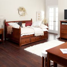 casey daybed walnut full daybeds at hayneedle full size daybed - Full Size Daybeds
