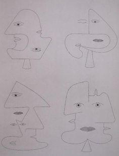 Code of Faces III -  VICTOR BRAUNER 1962