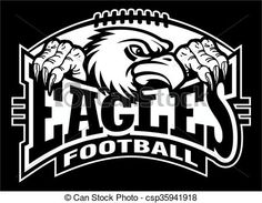 Vector - eagles football - stock illustration, royalty free illustrations, stock clip art icon, stock clipart icons, logo, line art, EPS picture, pictures, graphic, graphics, drawing, drawings, vector image, artwork, EPS vector art