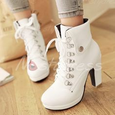 60d645e6e392 Laconic Women s High Heel Boots With Metal and Chunky Heel Design