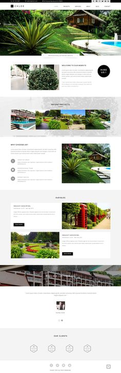 Chloe – Interior / Furniture / Exterior / Garden and Landscape Design Template  This theme can be used for design, exterior, garden, landscape, architecture, interior and portfolio websites. This theme is perfect for any other categories as well. The template is based on a clean and modern layout and it is easy to customize.