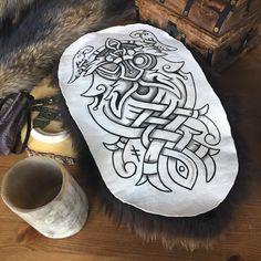 "116 Likes, 1 Comments - Brokk (@madferretforge) on Instagram: ""Óðinn altar pelt 🚨FOR SALE🚨 DM for details.  Hail, Old One-Eye! Hail, All-father! Pay tribute to…"""