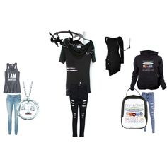 """""""#Divergent: Tris' formal, causal, faction meeting, at home outfits"""" by soraya-itunes on Polyvore"""