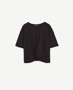 Image 8 of KNOTTED T-SHIRT from Zara
