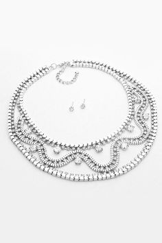 Cristalle Necklace in Silver on Emma Stine Limited