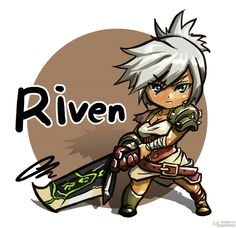 riven Riven Lol, Anime Chibi, Anime Art, Elves Fantasy, Game Character Design, Dark Elf, Lol League Of Legends, Funny Games, Anime Characters