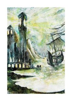The Return of the King Watercolor Illustration by LemonWatercolor, $14.00 #watercolor #illustration #artprint #etsy #lotr #tolkien