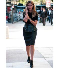 Our Fashion Director Nina Garcia flaunts a fringe/peplum combo.   - MarieClaire.com