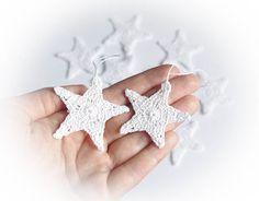 Star Crocheted Christmas ornaments