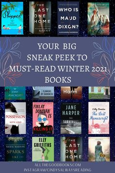 Your BIG SNEAK PEEK to Must-Read Winter 2021 Books! - ALL THE GOOD BOOKS