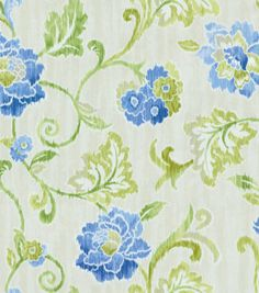 Create Lovely Fabric Based Projects With This Home Decor Fabric Flowing Graceful Floral Design