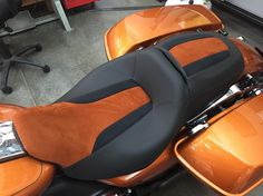 Motorcycle seat from our in-house trimmer. #feslerinterior