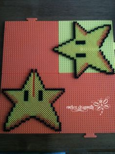 3D Super Star (power-up) Mario model perler beads by RockerDragonfly on deviantART