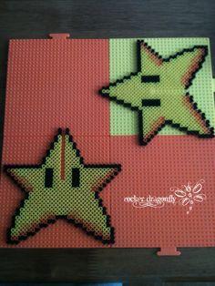 3D Super Star (power-up) Mario model perler beads by RockerDragonfly on deviantART
