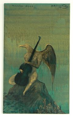 Bill Hammond,Predator Rock, Acrylic on canvas, 600 x 1000 mm. New Zealand Art, Visit New Zealand, Fireplace Art, Bird People, Nz Art, Kiwiana, Contemporary Paintings, Abstract Paintings, Painting Techniques