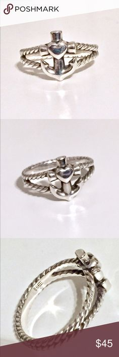 James Avery Anchor Ring - Size 9 James Avery Anchor Ring - Size 9.  Sterling Silver.  Well taken care of.  Perfect for a Navy or sailor's wife / girlfriend.  ⚓️ James Avery Jewelry Rings