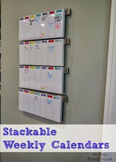 de Jong Dream House: Weekly Calendar