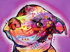 Pibble Pit Bull Dog Art Original Animal Painting