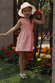 Retail Children's Clothing Girls Sleeveless Solid Color Dress Casual Dress Tutu Dress, Free Shipping GD032