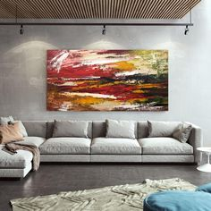 Textured Abstract Painting-Office Wall Art Acrylic Painting image 2 Large Abstract Wall Art, Large Canvas Art, Large Painting, Canvas Wall Art, Texture Art, Texture Painting, Original Paintings, Original Art, Abstract Paintings
