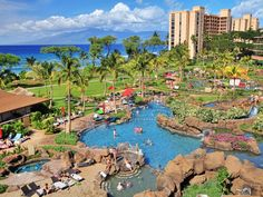 Honua Kai resort in Maui. This is a great family friendly condo resort just north of Kaanapali Beach offering all the amenities of a hotel property.