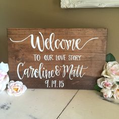 Welcome to our love story // hand lettered hand by ImperfectDust