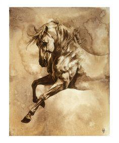 Barocke Pferde, Serie III: III Giclée-Druck von Heather Theurer bei AllPosters.de