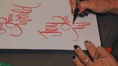 TUTORIAL: Caligrafia, como dibujar sus palabras. - YouTube
