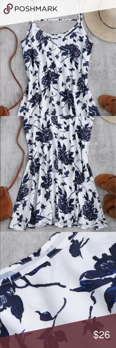 Spaghetti strap floral dress Flowy dress. Never worn. Polyester material. Size medium. Perfect summer dress or beach cover up. Please note - this is not J Crew. The brand is Zaful. J. Crew Dresses Mini