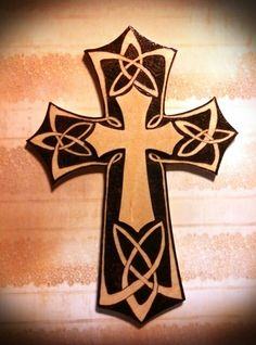 Pyrography cross