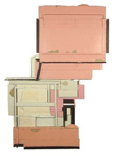 habit habit, found (unpainted) cardboard & foamcore  from New York based artist Ryan Sarah Murphy. It shows the ss16 trendy colour - rose quartz in a very calm and harmonious way.
