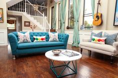 Living Room In The Heights - eclectic - Family Room - Houston - Estrada Design Consulting