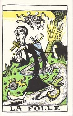"The Tarot Corrumpe"" Unpublished deck that's just plain weird. BUT! It does have the flying spaghetti monster!"