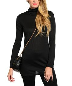This Stanzino Black Turtleneck Sweater - Women by Stanzino is perfect! #zulilyfinds