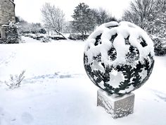 A diameter solid brass Garden sculpture sphere. The design is based on a Hydrangea flower, the choice of my client. Steel Sculpture, Garden Sculpture, David Murphy, Hydrangea Flower, Flowers, Solid Brass, Snow Globes, Sculptures, Outdoor