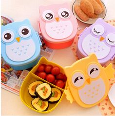 1050ml Cute Cartoon  Owl Lunch Box
