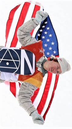 Gold medalist Red Gerard of the United States poses during the victory ceremony for the Snowboard Men's Slopestyle Final at Phoenix Snow Park on Feb. in Pyeongchang, South Korea. Red Gerard, Tara Lipinski, Pyeongchang 2018 Winter Olympics, Snowboarding Men, Winter Games, Sports Memes, Olympians, South Korea, Victorious
