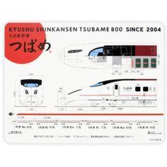 光学式マウス対応!九州新幹線800系つばめマウスパッド