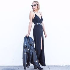 These 5 #OOTDs Prove There's Nothing Quite Like An LBD #refinery29  http://www.refinery29.com/unique-little-black-dress-outfits#slide1  Taye Hansberry of Stuff She Likes lent her revealing maxi-dress a casual vibe with some ankle booties.
