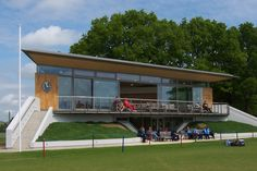cricket pavilions - Google Search Clubhouse Design, Stadium Architecture, Interior Cladding, External Cladding, Container Conversions, Pavilion Design, Hillside Landscaping, Sport Hall, Urban Design