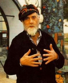 Friedrich Hundertwasser the Cyclist Philip Johnson, Klimt, Sculpture Textile, Friedensreich Hundertwasser, Portraits, Outsider Art, Art Plastique, Famous Artists, Art And Architecture