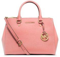 244c5a25c078 $328, Pink Leather Tote Bag: MICHAEL Michael Kors Michl Michl Kors Medium  Sutton Saffiano