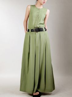 Maxi Dress Unique Loose fitting Long Vest Sundress by thesimpson, $76.00