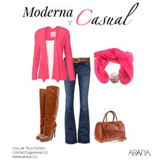 Un #look para sentirte cómoda y mantener tu #glamour durante todo el día. Combina tu prendas con #accesorios de moda y luce mas chic.