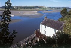 Dylan Thomas Country - The Boathouse at  Laugharne, Wales, UK