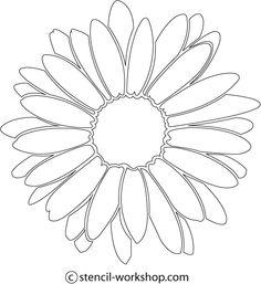 Flower Stencils Printable | Stencils Designs Free Printable ...