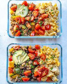 Breakfast Scramble Clean Eating Meal Prep Bowls! - Clean Food Crush #dailymealprep