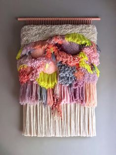 MADE TO ORDER - Colossal Lanscape - Important! Turnaround time for made to order is up to 16 weeks! Weaving Wall Hanging, Weaving Art, Weaving Patterns, Loom Weaving, Tapestry Weaving, Hand Weaving, Colorful Tapestry, Decoration Inspiration, Tear